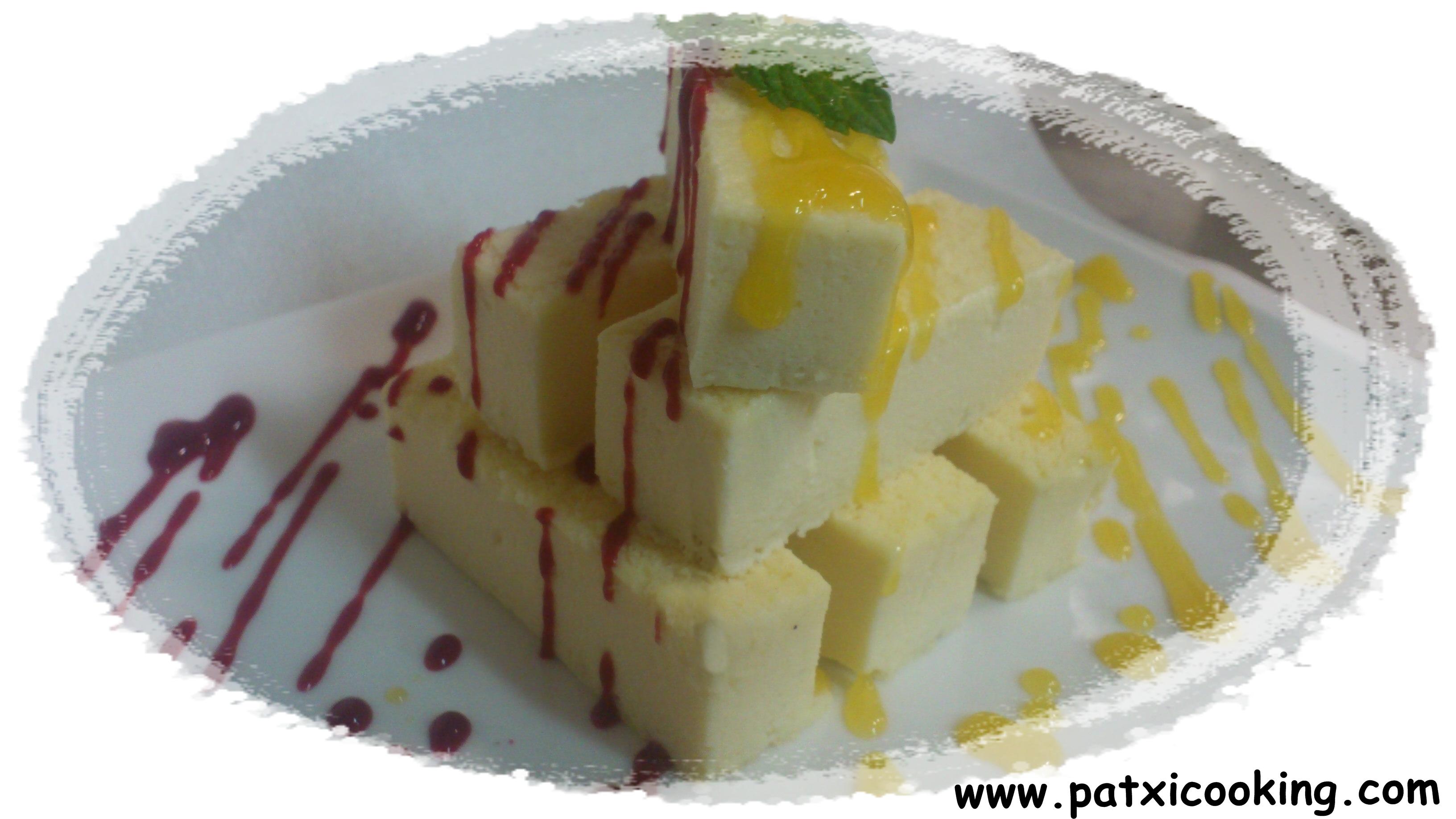 Tarta de queso, dúo de coulises