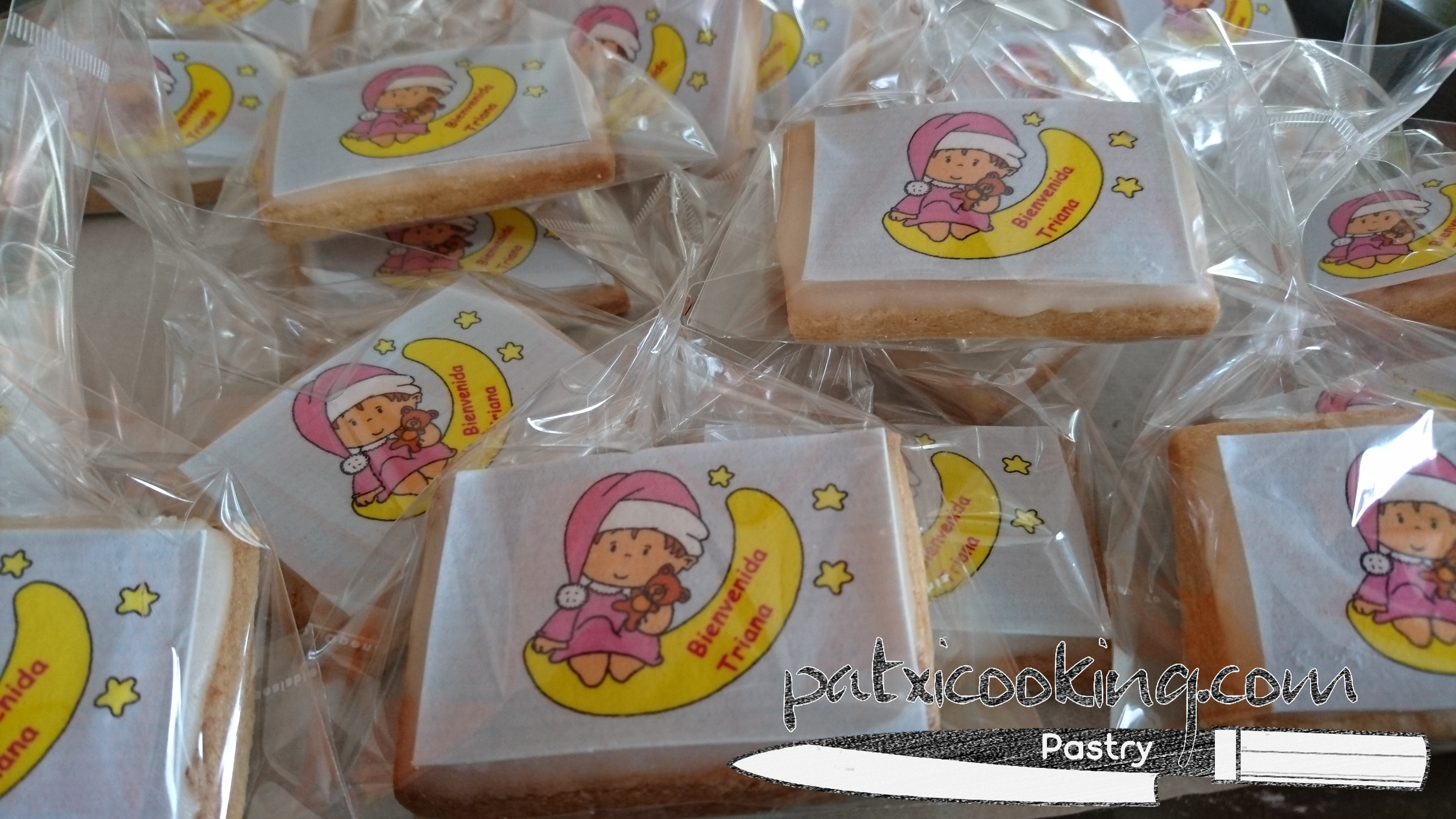 Recordatorios de galleta. Evento baby shower